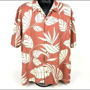 Tommy Bahama Mens XL 100% Silk Button Up Shirt